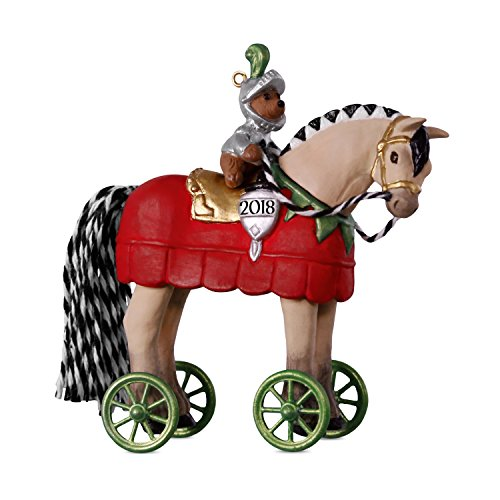 Hallmark Keepsake Christmas Ornament 2018 Year Dated, A Pony for Christmas Knight in Shining Armor -
