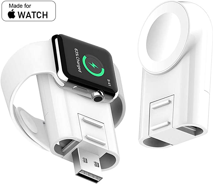 Charger for Apple Watch Wireless Portable Adjustable Magnetic Charger iWatch Travel Cordless Charge Compatible for Apple Watch Series 5 4 3 2 1