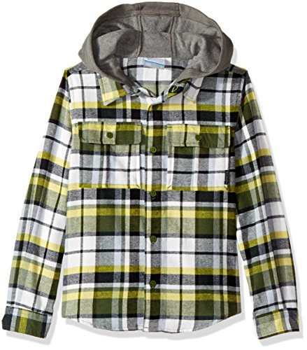 Columbia Little Boys' Boulder Ridge Flannel Hoodie, Pesto Multi Plaid, (Classic Update Hoody)