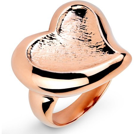Rose Gold-Plated Stainless Steel Heart-Shaped Freeform Ring Freeform Heart Ring