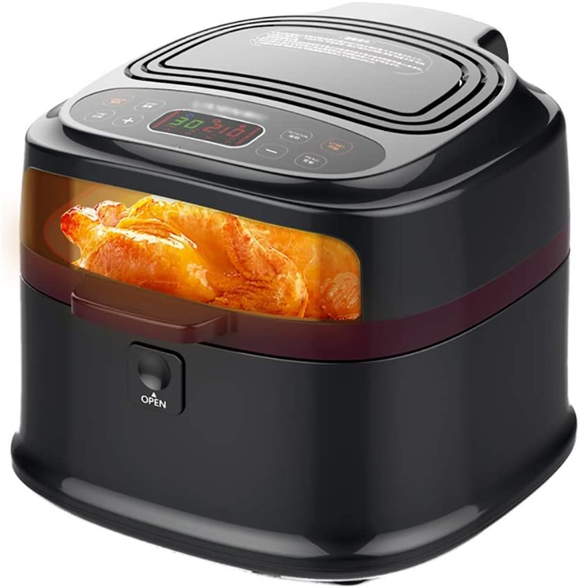 PJPPJH Air Fryer with Rapid Air Circulation System, VORTX Frying Technology, Timer and Adjustable Temperature Control for Healthy Oil Free or Low Fat Cooking
