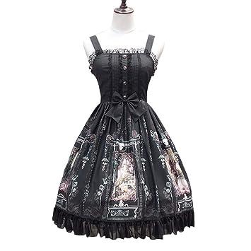 QAQBDBCKL Vestido Clásico De Las Mujeres Góticas Lolita ...