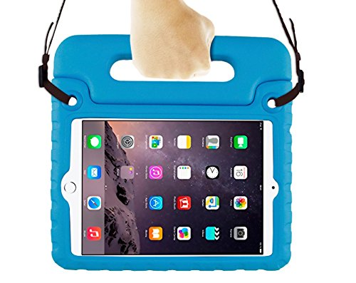 Bolete iPad Mini 1/2/3 Case with Shoulder Strap Kids Shock Proof Handle Light Weight Protective Stand Cover for (Ipad Mini 2 Nerf Case)
