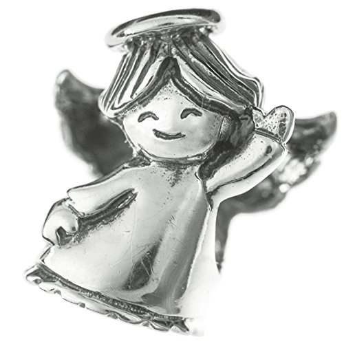 Dreambell 925 Sterling Silver Dancing Flying Smile Angel Holy Spirit Bead For European Charm (Dancing Angel Charm)