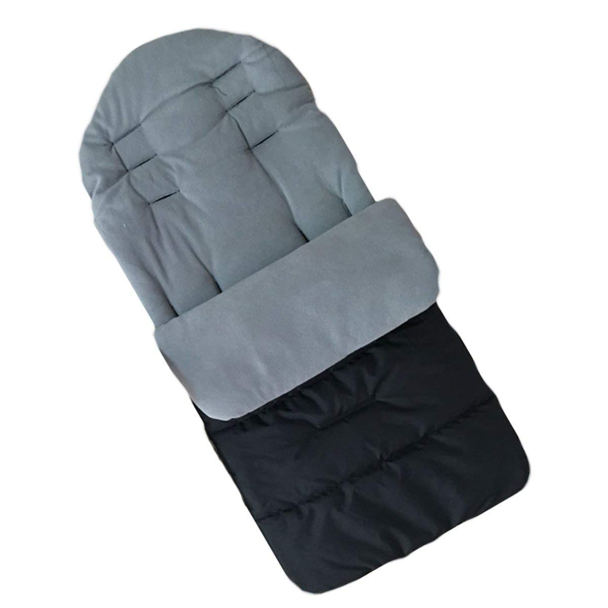 Kinderwagen Universal Fußsack Angenehm Warmes Toe Cover Winter Winddicht Wärme Schlafsack Baby Trolley Baumwolle Kissen Sitzauflage-Grau BALALALA