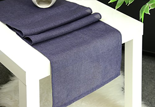 Aiking Home (Pack of 1) Natural Faux Linen Unlined Table Runner, Navy-Size 12''x62'' -Ideal for Wedding, Baby Shower, Party Decor, Thanksgiving, Christmas or Special Event. (Christmas Linens Table Decor)