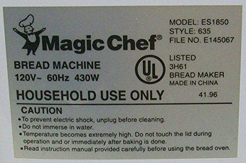 amazon com new kneading paddle fits magic chef model es1850 style rh amazon com Magic Chef Bread Machine Magic Chef Kneading Blade