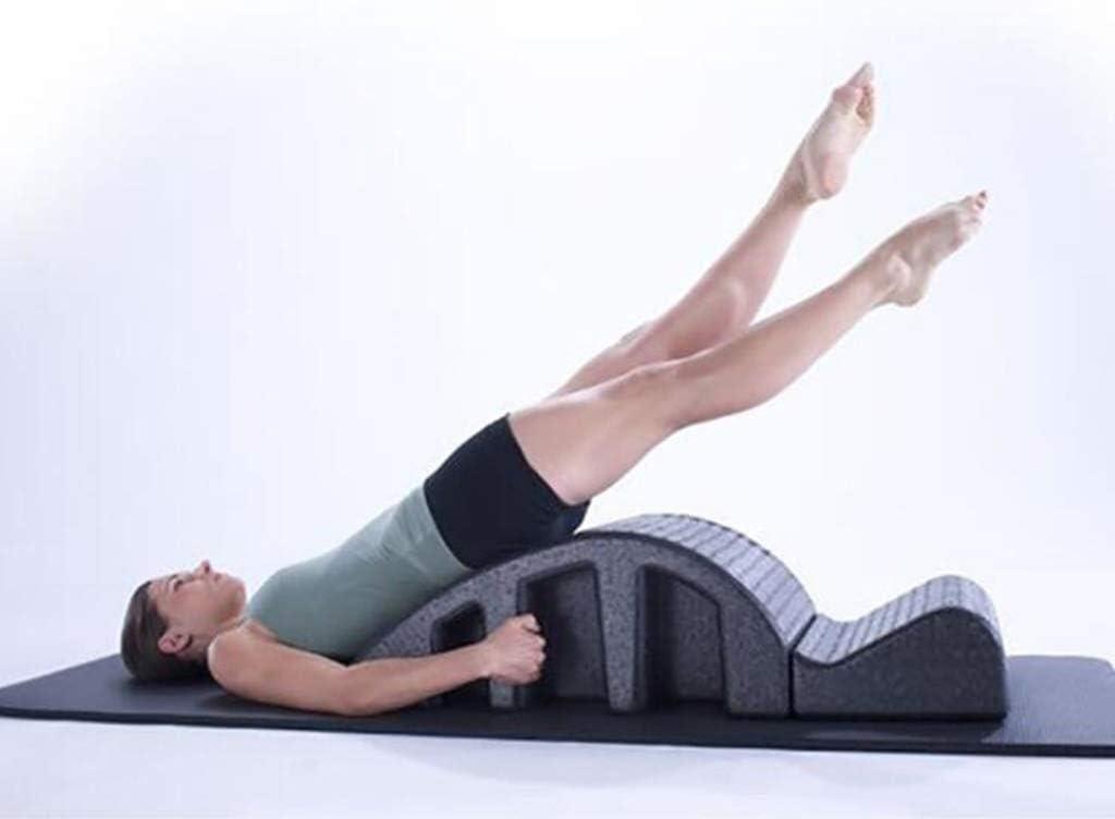 N Columna Vertebral de Yoga Spine Corrector Abdominal Belleza Clip de Pilates perfeccionar Equipos de Gimnasia Dieta máquina Grapadora Pilates Yoga asistido Dieta máquina Negro