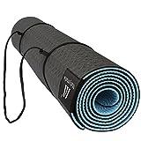 Matymats Non Slip TPE Yoga Mat with Carry Strap for Hot Yoga Pilate Gymnastics Bikram Meditation Towel- High Density Thick 1/4'' Durable Mat 72''24'' Eco Safe Non Toxic
