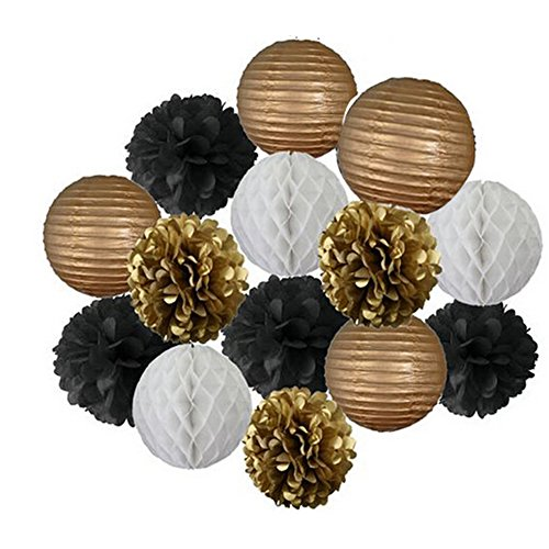 lantern Honeycomb Pompoms Decoration AllHeartDesires product image
