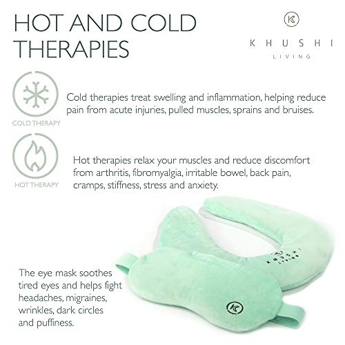 Microwavable Neck Heating Pad with Aromatherapy - Soothing