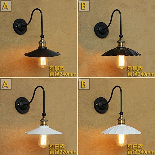 5151BuyWorld Amerika und Europa Popular Wandleuchte Kunst-Art-Weiß Schwarz Loft Retro Vintage Nachtlicht Asile [C Lampe]