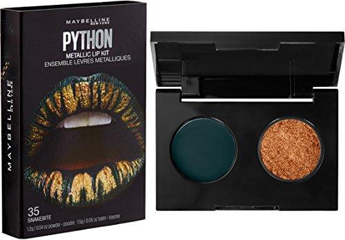 Maybelline New York Lip Studio Python Metallic Lip Makeup Kit, Snakebite, 0.09 oz.