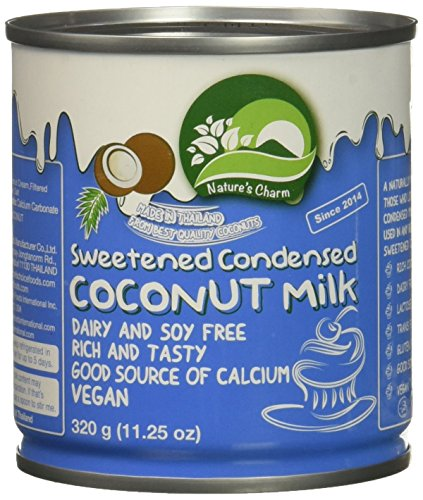 Nature's Charm Sweetned Condensed Coconut Milk, 11.25 Ounce. (Pack of 3)