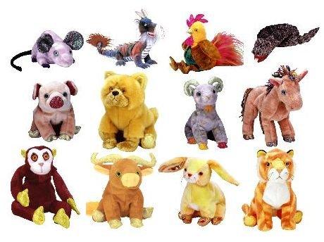 TY Beanie Babies - ZODIAC BEANIES SET ( Complete Set - ALL 12 Pieces )