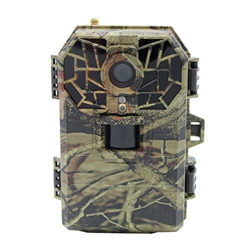 Zenth IP66 Waterproof Game & Trail Camera Support 16MP 1080P 3G GPRS SMTP Email MMS SMS Sending Pictures Mobile Phone Remote Control for Hunting and Home Warehouse Farm Surveillance (Network Thermal Camera Outdoor)