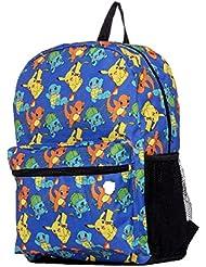 Pokemon Large 17 All Over Print Front Pocket Backpack