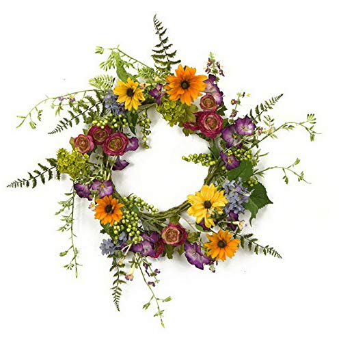 (Mikash Mixed Wild Flower Wreath | Model WRTH - 491)