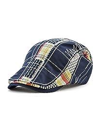 Z-XUELI Flat Cap Fashion Men's Classic Golf Ivy Gatsby Newsboy Driving Hat