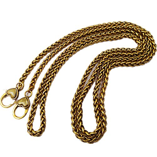 d58a37d2982b Heart-Shaped Buckle Wide 5mm Antique Golden Chain for Mini Women Bags  Replacement Purse Chain Strap Chain Purse Strap Purse Chain Straps (Length  31 inch)