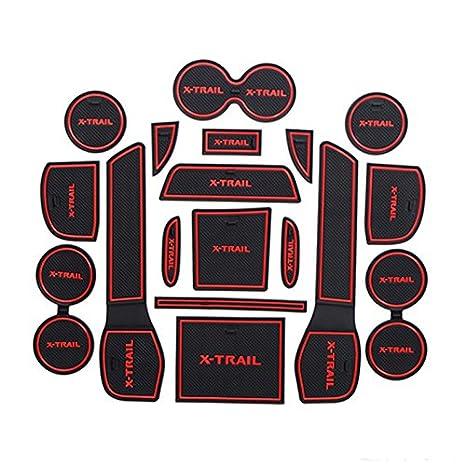 Hireno Tappetini in Gomma Tappetini Antiscivolo pad slot porta per X-Trail Fives seats