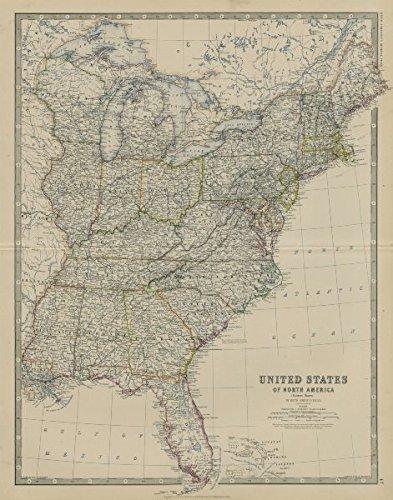 Amazon.com: United States of North America (Eastern States). USA ...