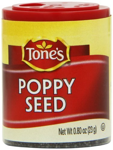 Tone's Mini's Poppy Seed, 0.80 Ounce (Pack of 6) by Tone's by Tone's