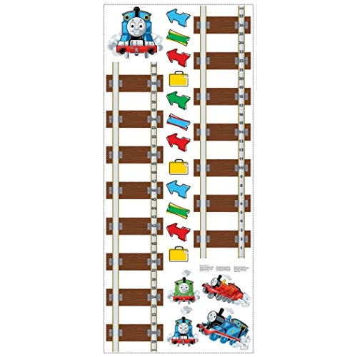 - MN 19 Piece Kids Brown Blue Red Thomas and Friends Wall Decals Set, Cartoon Themed Wall Stickers Peel Stick, Fun Animated Tank Engine Train Transportation Tracks Decorative Graphic Mural Art, Vinyl