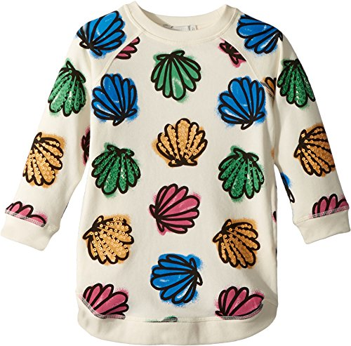 Stella McCartney Kids Baby Girl's Sapphire Knit Dress w/colorful Seashell Print (Toddler/Little Kids/Big Kids) Cream 4T by Stella McCartney Kids