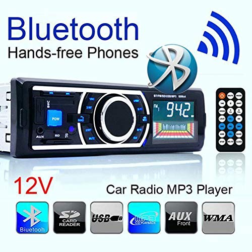 FidgetFidget MP3 Radio Car Stereo Player Bluetooth Audio in-Dash FM Aux Input Receiver SD USB