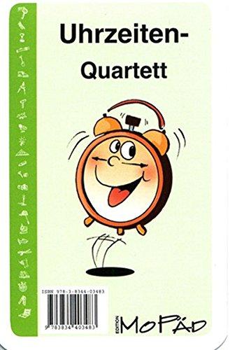 Uhrzeiten-Quartett: 1. und 2. Klasse