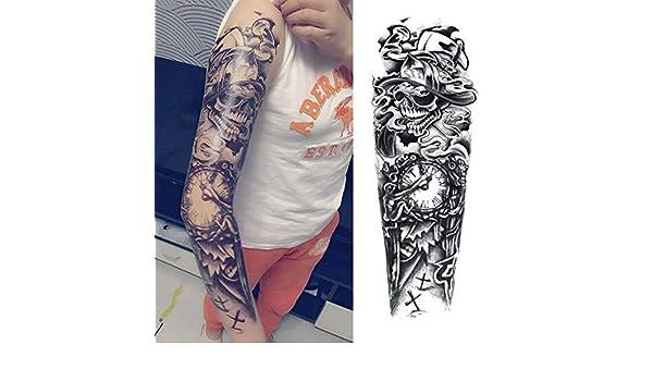 tzxdbh 3Pcs-Squid Full Flower Brazo Tattoo Sticker Body Painted ...