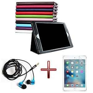 "XMY Colour Deep Blue Holder Leather Cuero Case Cover cubierta de la caja + Film + Headphone Auricular por 12.9"" iPad Pro Tablet new"