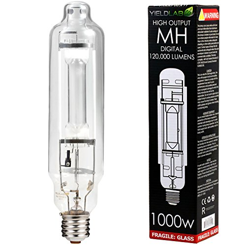 (Yield Lab 1000w Metal Halide (MH) Digital HID Grow Light Bulb (5500K) - 1 Bulb - Hydroponic, Aeroponic, Horticulture Growing Equipment)