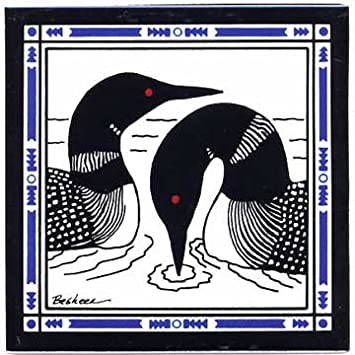 LOONS IN LAKE TILE – WALL PLAQUE – TRIVET WL-3