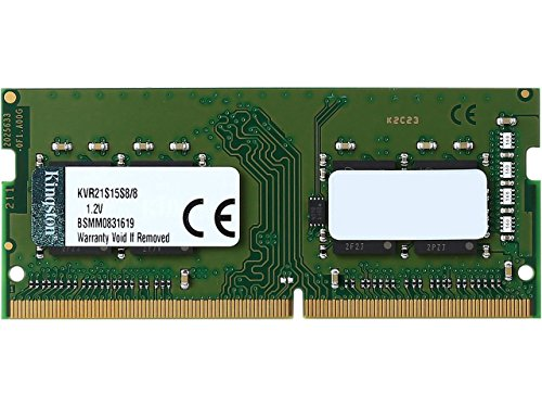 Kingston ValueRAM 8GB 2133MHz DDR4 Non-ECC CL15 SODIMM 1Rx8 Laptop Memory (KVR21S15S8/8) by Kingston Technology
