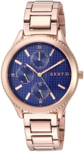 DKNY Women's 'Woodhaven' Quartz Stainless Steel Casual Watch, Color:Rose Gold-Toned (Model: NY2661)