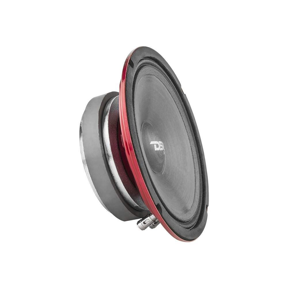 DS18 PRO-SM8.2 8'' Slim Loudspeaker - 6.5'', Midrange, Red Steel Basket, 500W Max Power, 250W RMS, 2 Ohms - Premium Quality Audio Speakers - IP66 Water Resistance, Perfect for Motorcycle Applications by DS20
