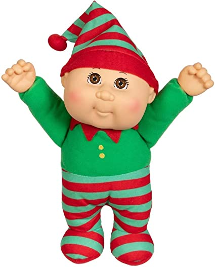 """Cabbage Patch Kids Cuties Holiday Helpers Douglas Snowman Plush Doll 9"""""""