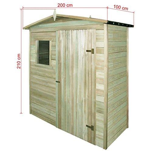 FZYHFA Caseta para leña de de Pino Impermeabilizada 200 x 100 x 210 cm Casa jardín casa Exterior Casa Herramientas Trabajo: Amazon.es: Jardín