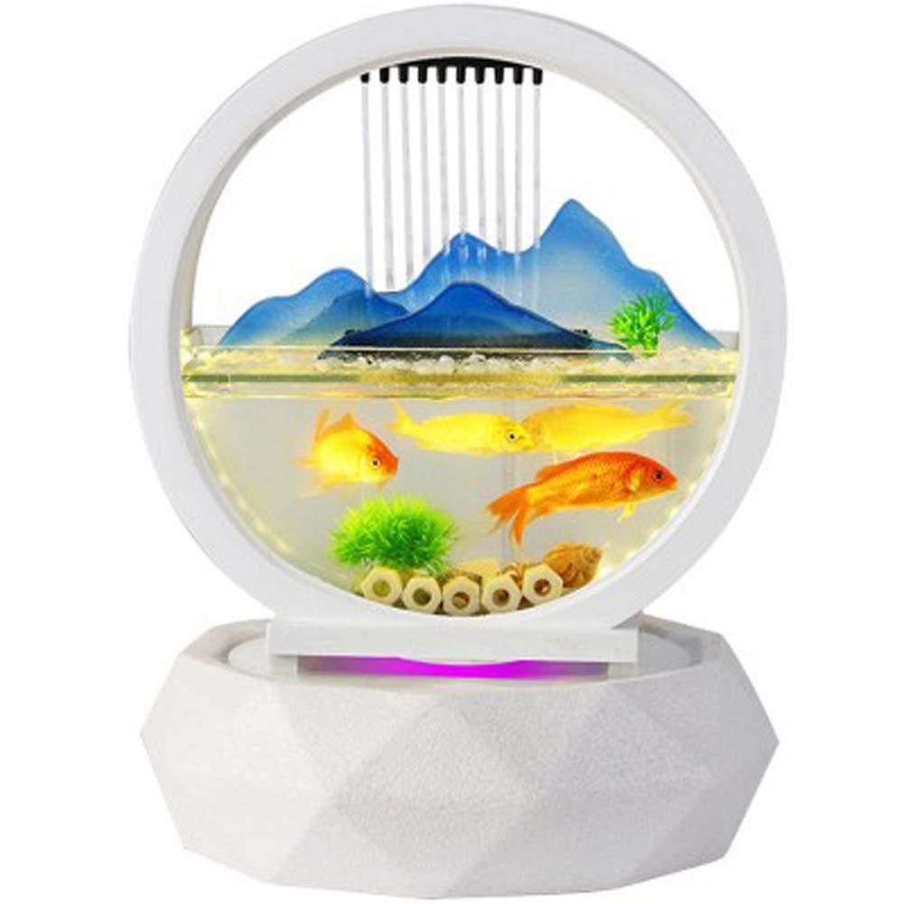 TOYBO ERMEI Flow intelligence Aquarium goldfish tank fish tank small desktop living room mini home glass medium-sized floor aquarium filter office water fish