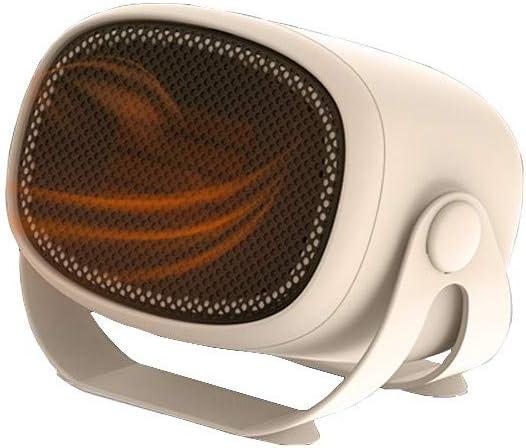 MZGN Mini Calefactor Eléctrico, Calefactor Ventilador, Cerámico Caliente Ventilador, Calefactor de Aire Caliente, Calentador de Portátil para Cuarto Oficina, Protección contra sobrecalentamiento.