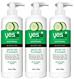 Yes To Cucumbers Gentle Milk Cleanser, 6 Ounce, (Pack of 3)