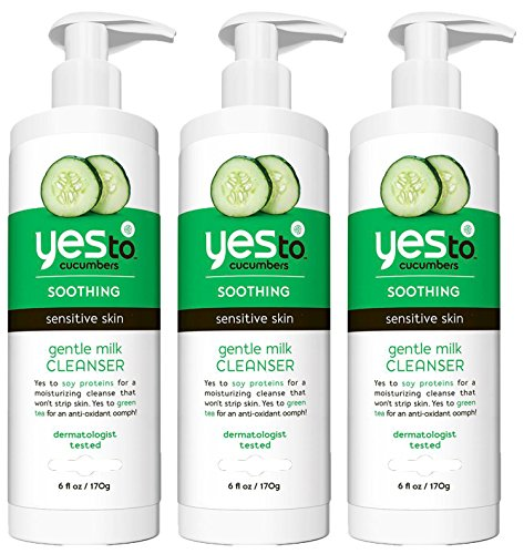 Moisturiser Emulsion (Yes To Cucumbers Gentle Milk Cleanser, 6 Ounce, (Pack of)