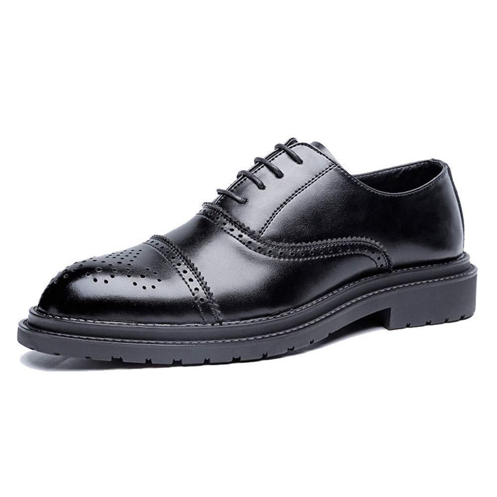 FuweiEncore 2018 Herren Business Oxford Schuhe, Lässige Mode Klassische Retro Pinsel Farben Brogue Schuhe (Farbe   Gelb, Größe   42 EU) (Farbe   Schwarz, Größe   40 EU)