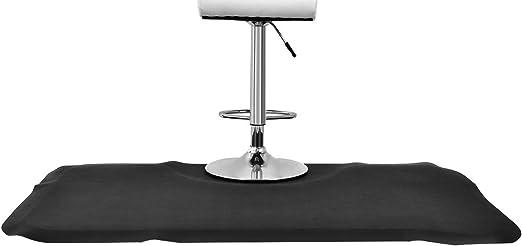 DREAMADE Barber Tapis de Sol pour Salon de Coiffure Anti-Fatigue Tapis Rectangulaire sous Chaises Antid/éparant en PVC et en NBR 152 X 91 CM Noir