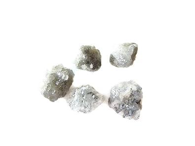 114d8564e 5 Pieces White/Grey Raw Diamonds, Rough Diamonds, Uncut Diamonds, Loose  Diamonds
