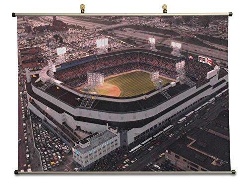 Tollyee Old Tigers Stadium, Detroit, MI - Canvas Wall Scroll Poster (32x24 - Tiger Stadium Old Detroit