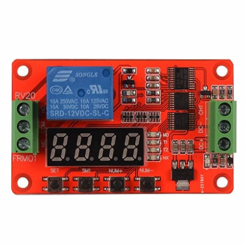 (KingFurt Newer Version 12V Multifunction Relay Cycle Timer Module - Programmable with Customized Settings (Increased to 18 Modes))