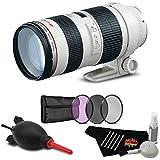 Canon EF 70-200mm f/2.8L USM Lens Accessory Bundle International Model